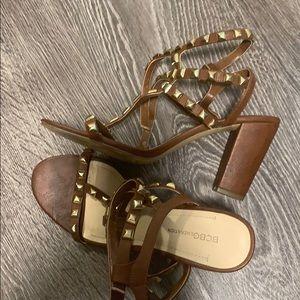 BCBG studded heels gladiator ankle heeled sandals